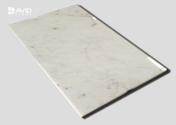 Alta teja de la piedra del mármol de Carrara del lustre para la pared interna decorativa modificada para requisitos particulares