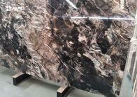 Xiamen service fantasy black marble glossy polished 18cm beautiful veins