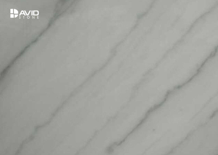 Custom High Whiteness Bathroom Marble Slabs For Wall Decor Stain Resistant