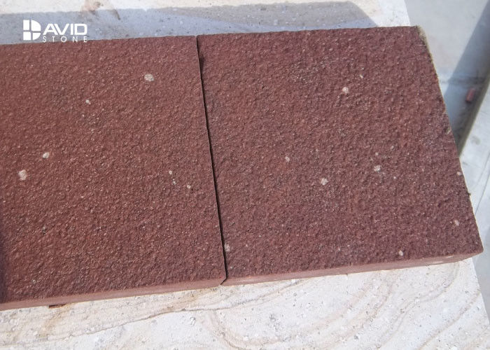 Red Sandstone Stone Tile For Paving Sound Insulation Anti Damage
